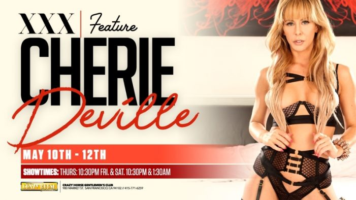 Cherie DeVille Featuring at Crazy Horse San Francisco Thursday May 10 – Saturday May 12