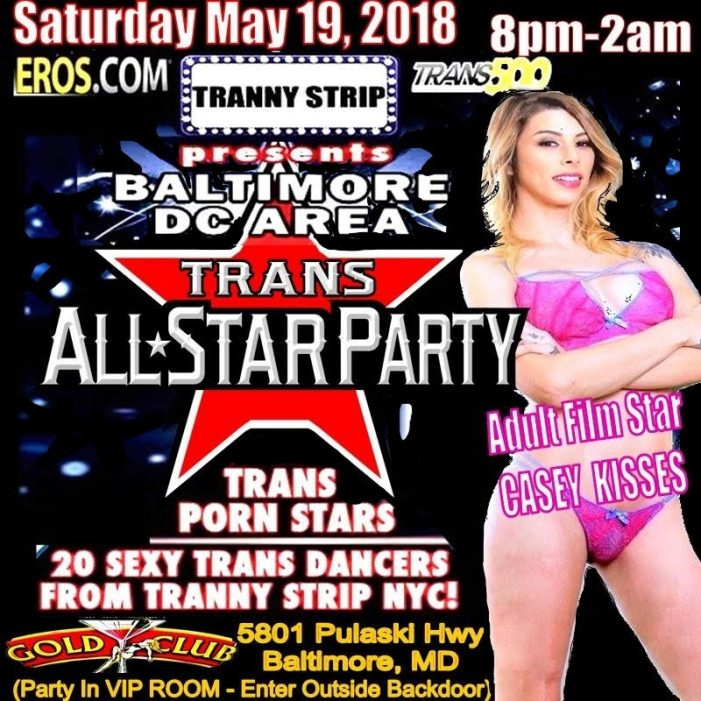 Casey Kisses Headlines Trans All-Star Party