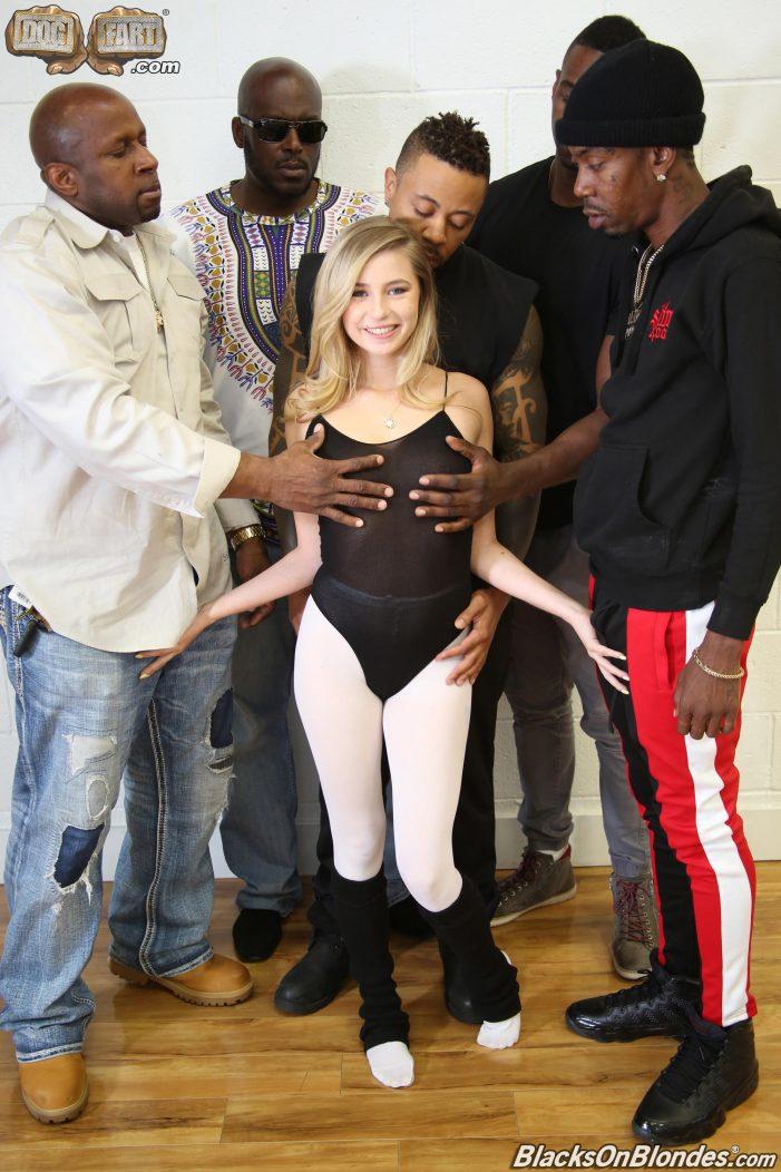 Carolina Sweets In Five Man Gangbang At BlacksOnBlondes.com