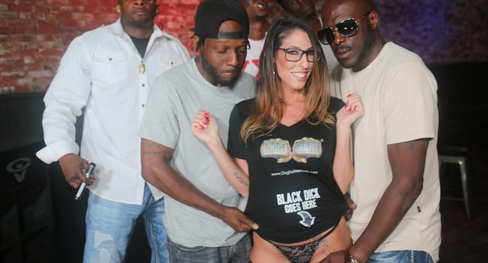 Dava Foxx Does Her First Interracial Gangbang For Dogfart's BlacksOnBlondes.com