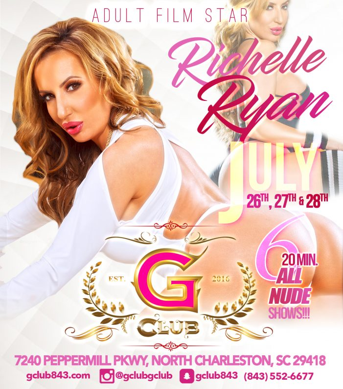 Richelle Ryan Feature Dancing At 'The G Club' in North Charleston, SC  7/26 – 7/28