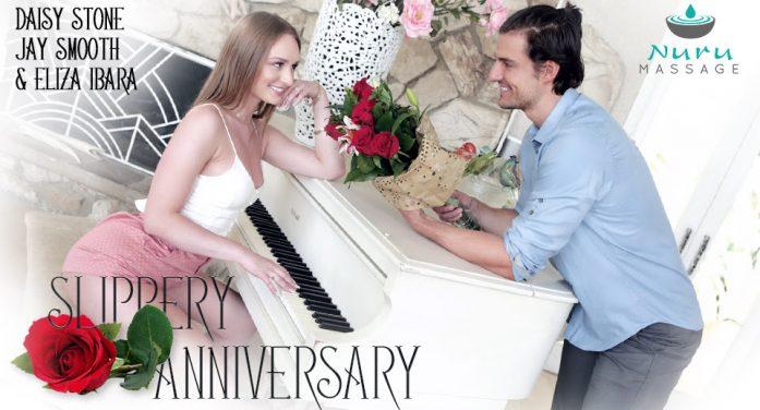 Daisy Stone Stars 'A Slippery Anniversary' At NuruMassage.com
