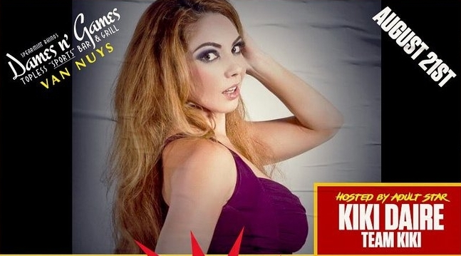 Kiki Daire Returns To Dames N' Games For 'Topless Karaoke' Tuesday Night