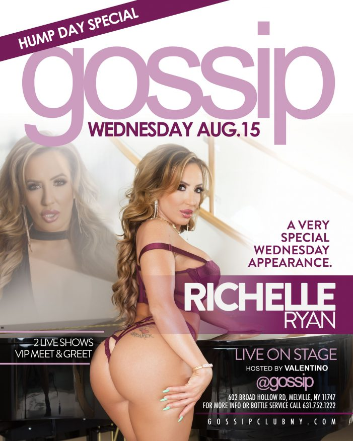Richelle Ryan to Appear at Gossip in Long Island