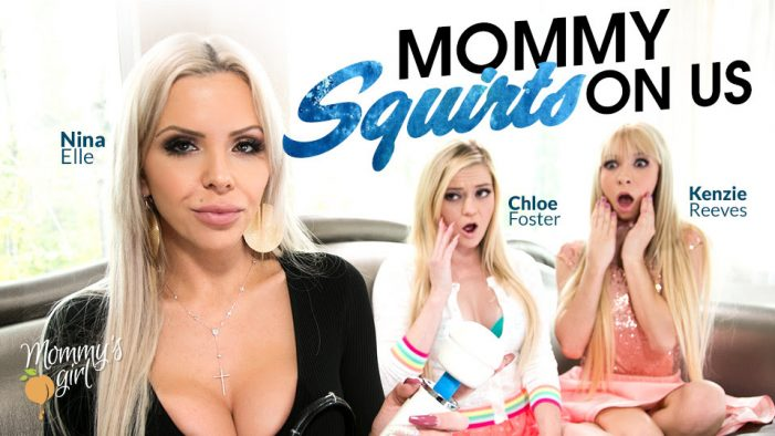 Nina Elle Surprises Her New Stepdaughters in Girlsway/Mommy's Girl's Mommy Squirts on Us
