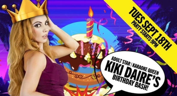 Celebrate Kiki Daire's Birthday At Dames N' Games Tuesday