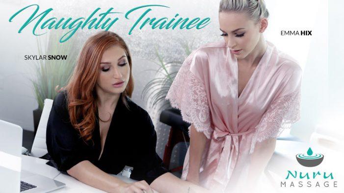 Emma Hix is the Naughty Trainee in new Nuru Massage Release
