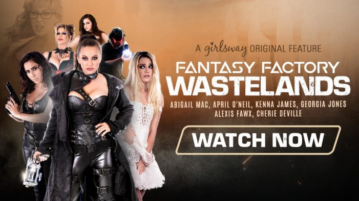 Kenna James is a Sexbot on the Loose in Girlsway's Four-Part Series, Fantasy Factory: Wastelands