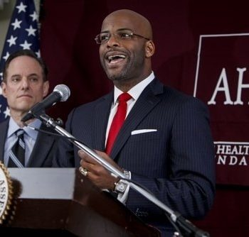 AHF's Michael Weinstein with Assemblyperson Isadore Hall