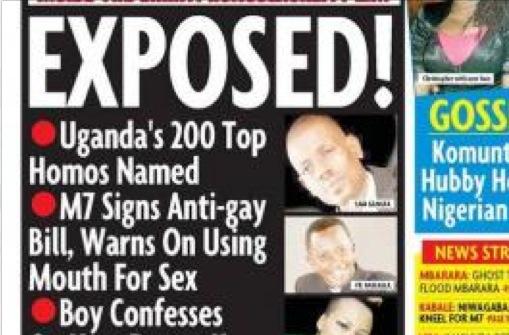 gay witch-hunt in Uganda