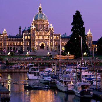 The Legislative Building in Victoria , British Columbia