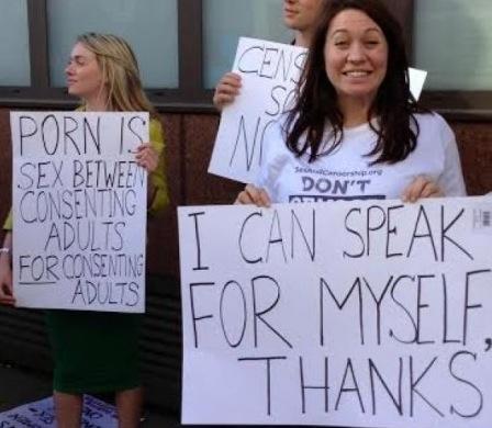 Porn stars picket anti-porn conference