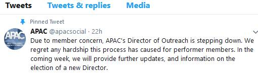 Lydia Dupra Resigns From APAC, But Scumbag Ginger Banks Remains #notmyadvocate
